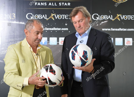 Launch of Fans All Stars Global Vote 2013 at the Old Burberry Building Haymarket London with Glenn Hoddle and Ossie Ardiles