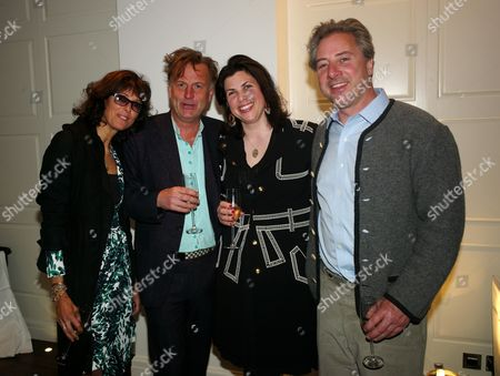 Stock Picture of Book Launch Party For 'Sheer Opulence' at the Westbury Hotel Mayfair London Jane Pickering Valentine Guinness Kirstie Allsopp and Her Partner Ben Andersen