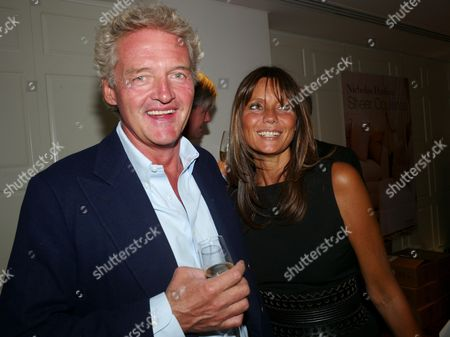 Book Launch Party For 'Sheer Opulence' at the Westbury Hotel Mayfair London Count Leopold Von Bismarck with His Wife Countess Debbie Von Bismarck