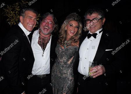 Lisa Tchenguiz's 50th Birthday Party at the Troxy Commerical Road East London Lisa Tchenguiz & Her Partner Steve Varsano with Her Brothers Robert & Vincent Tchenguiz