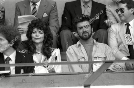 Live Aid at Wembley Arena Renate Blauel and George Michael