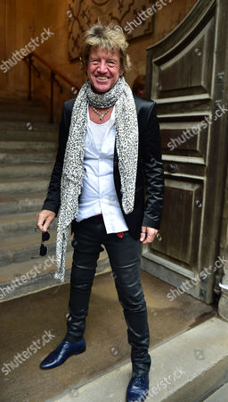 Stock Image of Lynda Bellingham Service of Thanksgiving at St Stephen's Church Walbrook London Robin Askwith