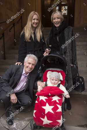Stock Picture of Lynda Bellingham Service of Thanksgiving at St Stephen's Church Walbrook London George Layton with His Family