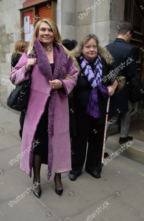 Stock Picture of Lynda Bellingham Service of Thanksgiving at St Stephen's Church Walbrook London Amanda Redman and Sylvia Syms