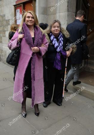 Lynda Bellingham Service of Thanksgiving at St Stephen's Church Walbrook London Amanda Redman and Sylvia Syms