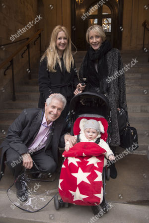 Stock Image of Lynda Bellingham Service of Thanksgiving at St Stephen's Church Walbrook London George Layton with His Family