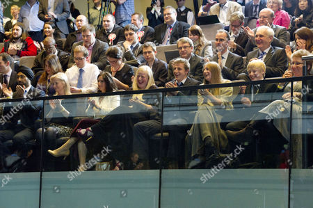 Stock Picture of Mayoral Elections Results at City Hall Kulveer Ranger Marina Wheeler and Her Children Milo Arthur Cassia Peaches Lara Lettice and Theodore Apollo Cheer After Boris Johnson Makes His Speech