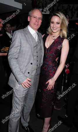 20 05 2015 Mcqueen - Press Night World Premiere of James Phillips's Play Playing Homage to the Mind and Creativity of Designer Alexander Mcqueen Following His Death Five Years Ago at the St James Theatre Palace Street Victoria London the Plays Director John Caird with Dianna Agron