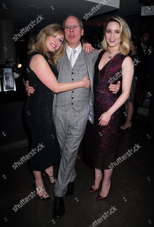 20 05 2015 Mcqueen - Press Night World Premiere of James Phillips's Play Playing Homage to the Mind and Creativity of Designer Alexander Mcqueen Following His Death Five Years Ago at the St James Theatre Palace Street Victoria London Tracy-ann Oberman the Plays Director John Caird with Dianna Agron