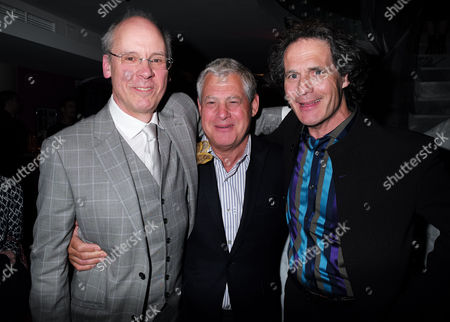20 05 2015 Mcqueen - Press Night World Premiere of James Phillips's Play Playing Homage to the Mind and Creativity of Designer Alexander Mcqueen Following His Death Five Years Ago at the St James Theatre Palace Street Victoria London the Plays Director John Caird with Sir Cameron Mackintosh and Robert Mackintosh