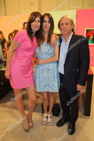 ' I Only Want You to Love Me' Private View at the Embankment Galleries Somerset House Annabel Brooks and Her Daughter Ella and Ella's Father Damian Harris