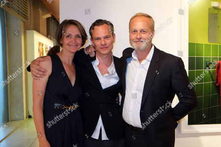 'I Only Want You to Love Me' Private View at the Embankment Galleries Somerset House Saffron Aldridge with Her Brother Miles Aldridge and Husband Ian Wace
