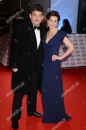 Stock Photo of National Television Awards Arrivals at the 02 John Altman and Anna Acton
