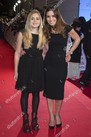 Stock Photo of National Television Awards Arrivals at the 02 Tana Ramsey with Her Daughter Mathilda