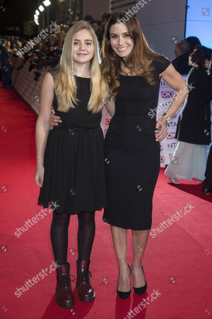 Stock Image of National Television Awards Arrivals at the 02 Tana Ramsey with Her Daughter Mathilda