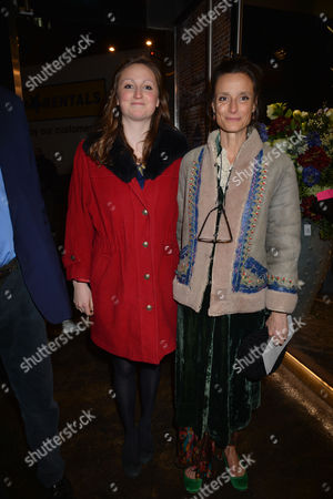 Nicky Haslam at Home with Oka A Party to Launch Nicky's Latest Book Folly De Grandeur at Oka Fulham Road West London Marchioness of Worcester Tracy Ward and Her Daughter Lady Isabella Somerset