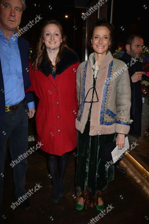 Stock Image of Nicky Haslam at Home with Oka A Party to Launch Nicky's Latest Book Folly De Grandeur at Oka Fulham Road West London Marchioness of Worcester Tracy Ward and Her Daughter Lady Isabella Somerset