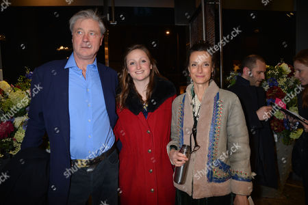 Nicky Haslam at Home with Oka A Party to Launch Nicky's Latest Book Folly De Grandeur at Oka Fulham Road West London Bunter Somerset the Marquess of Worcester with His Wife Marchioness of Worcester Tracy Ward and Their Daughter Lady Isabella Somerset
