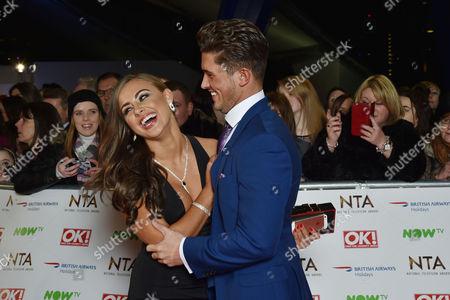 National Television Awards at the 02 - Vip Arrivals Jordan Davies and Ashleigh Defty