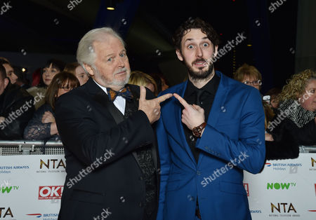 National Television Awards at the 02 - Vip Arrivals Ian Lavender and Blake Harrison