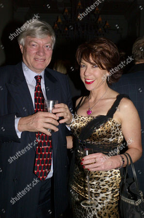 Ôin Bed With' Book Launch at the Artesian Bar at the Langham Hotel Portland Place London Geoffrey Robinson with His Wife Kathy Lette