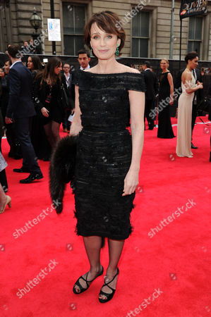 Olivier Theatre Awards Red Carpet Arrivals at the Royal Opera House Kristin Scott Thomas
