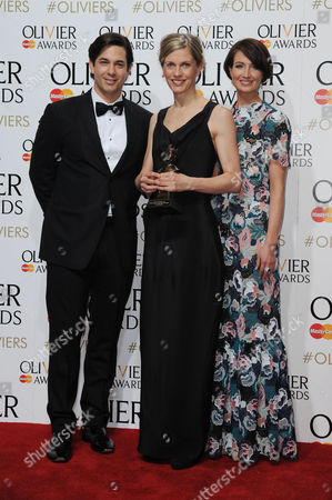 Laurence Olivier Theatre Awards 2015 Press Room at the Royal Opera House Crystal Pite - Winner of Outstanding Achievement in Dance Presented by Adam Garcia and Lauren Cuthbertson