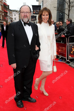 Olivier Theatre Awards Red Carpet Arrivals at the Royal Opera House Duncan Weldon and Ann Sidney
