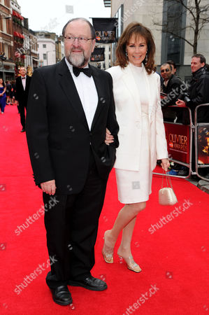 Stock Photo of Olivier Theatre Awards Red Carpet Arrivals at the Royal Opera House Duncan Weldon and Ann Sidney