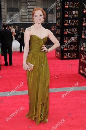 Stock Image of Olivier Theatre Awards Red Carpet Arrivals at the Royal Opera House Kristen Beth Williams