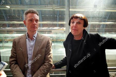 the Unveiling of A New Work by Cornelia Parker Ra One More Time 2015 at St Pancras International This is the First Time the Royal Academy of Arts Has Co-presented an Off-site Public Sculpture Series in London Tim Marlow Director of Artistic Programmes at the Royal Academy of Arts & Cornelia Parker Ra