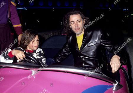 Opening Day For Disneyland Resort Paris (euro Disney) Bob Geldof with His Daughter Fifi Trixibelle Geldof