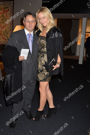 Stock Picture of Pad Art and Design Fair in Pavilion in Berkeley Square Mayfair London Tomasz Starzewski & Sabina Mctaggart