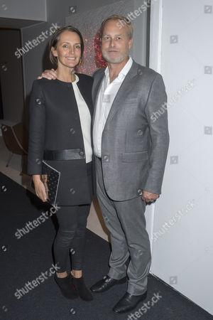 Pad Art and Design Fair in Pavilion in Berkeley Square Mayfair London Saffron Aldridge and Her Husband Ian Wace