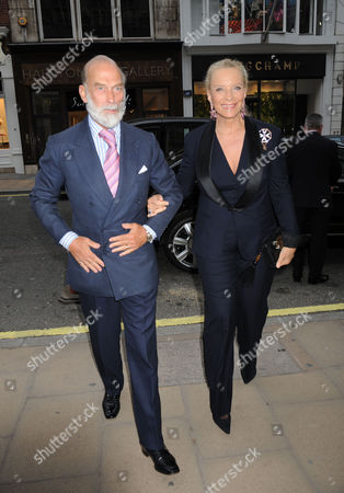 A Cocktail Party at Partridge Fine Arts Bond Street For Prince Dimitri of Yugoslavia's Collection of Fine Jewellery Prince & Princess Michael of Kent