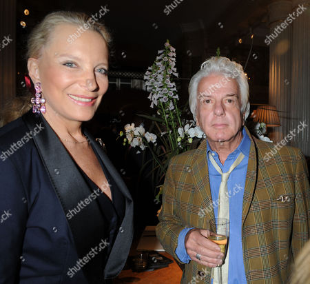 A Cocktail Party at Partridge Fine Arts Bond Street For Prince Dimitri of Yugoslavia's Collection of Fine Jewellery Princess Michael of Kent & Nicky Haslam