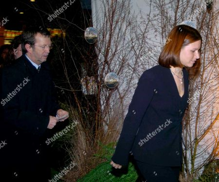 the Premiere of 'Big Fish' at the Warner Village Westend and Party at the St Martin's Lane Hotel Eric Clapton with His Wife Melia Mcenery