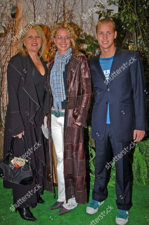 the Premiere of 'Big Fish' at the Warner Village Westend and Party at the St Martin's Lane Hotel Joan Branson with Her Children Sam and Holly