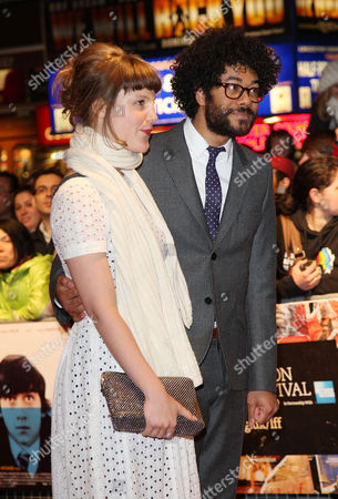 Premiere of 'Submarine' During the London Film Festival at the Vue Leicester Square Richard Ayoade with His Wife Lydia Fox