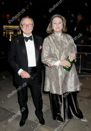 Press Night For 'Love Never Dies' Arrivals at the Adelphi Theatre David Jacobs with His Wife Lindsay