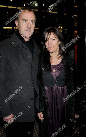 Press Night For 'Love Never Dies' Arrivals at the Adelphi Theatre Angus Deayton with His Partner Lise Mayer