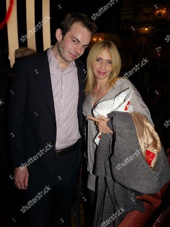 Press Night of 'Desperately Seeking Susan' at the Novello Theatre Aldwych Rosanna Arquette with the Director Angus Jackson