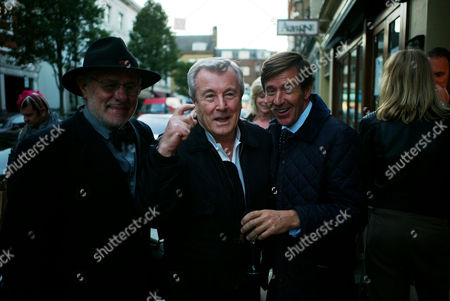 Private View For 'Terry O'neill: Guys & Dolls' at the Little Black Gallery Barry Lategan Terry O'neill and John Stoddart