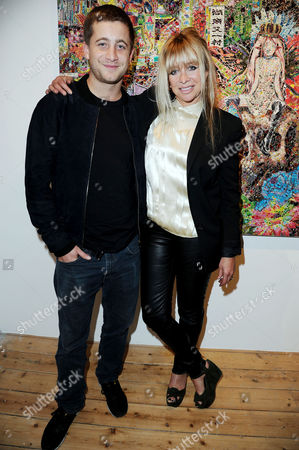 Launch of Scream's New Gallery Space On Eastcastle Street and Private View of Ye Hongxing's 'The Modern Utopia' Jo Wood with Her Son Tyrone Wood