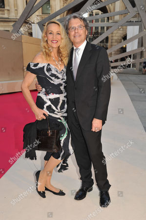 Stock Photo of Royal Academy of Arts Summer Exhibition Preview Party Jerry Hall with Her Boyfriend Warwick Hemsley