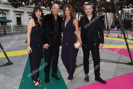 Stock Picture of Royal Academy of Arts Summer Exhibition Preview Party at the Raa Ron Dennis with His Partner Carol Weatherall and Sarah T-smith