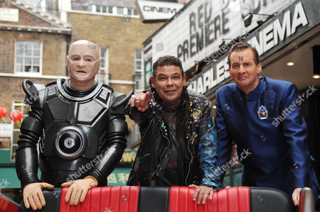 Red Dwarf X Photocall at the Prince of Wales Cinema Leicester Square Robert Llewellyn Craig Charles and Chris Barrie