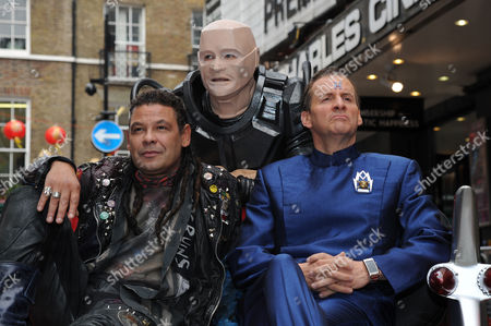 Red Dwarf X Photocall at the Prince of Wales Cinema Leicester Square Craig Charles Robert Llewellyn and Chris Barrie