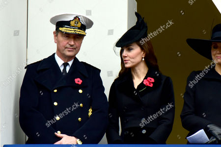 Remembrance Sunday at the Cenotaph Whitehall Vice Admiral Sir Timothy Laurence; Catherine Duchess of Cambridge;