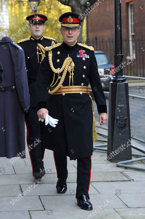Scenes in Downing Street of Guests Arriving For Remembrance Sunday Head of the British Army General Sir David Richards